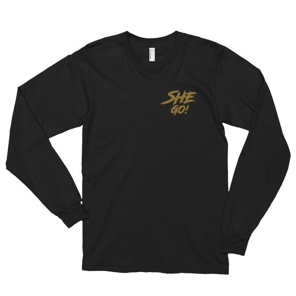 SheGo - Gold Print Long Sleeve