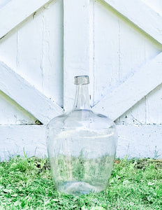 Authentic Vintage Wine Demijohn - Clear (Pickup or Local Delivery Only)