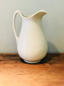 White Ironstone Ewer/Wash Pitcher