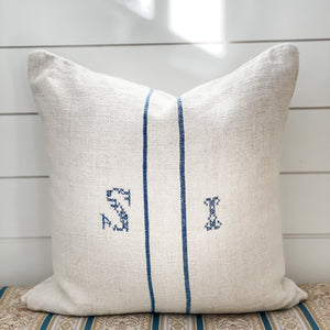 European Grain Sack Pillows 22""