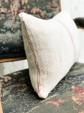 European Grain Sack Lumbar Pillow 12x20