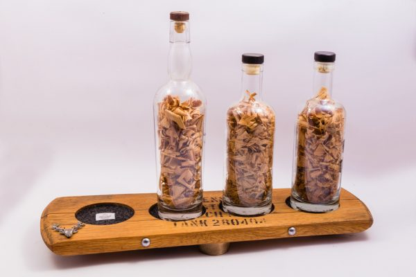 The Bute Whisky Barrel Gift Setwith 3 whisky bottles