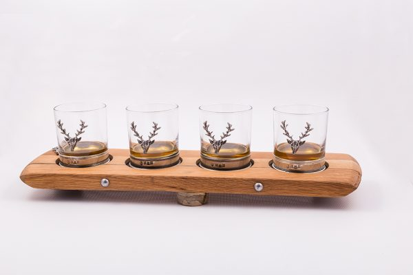 The Bute Whisky Barrel Gift Set with whisky glasses