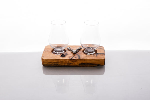 Whisky Barrel Stave With Scottish Whisky Tumbler & Jug 2
