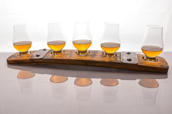 Ultimate Whisky Barrel Dram holder for 5 glasses