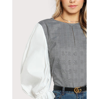 Frilled Gigot Sleeve Top