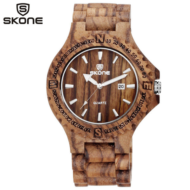 SKONE Men's Wood Watch