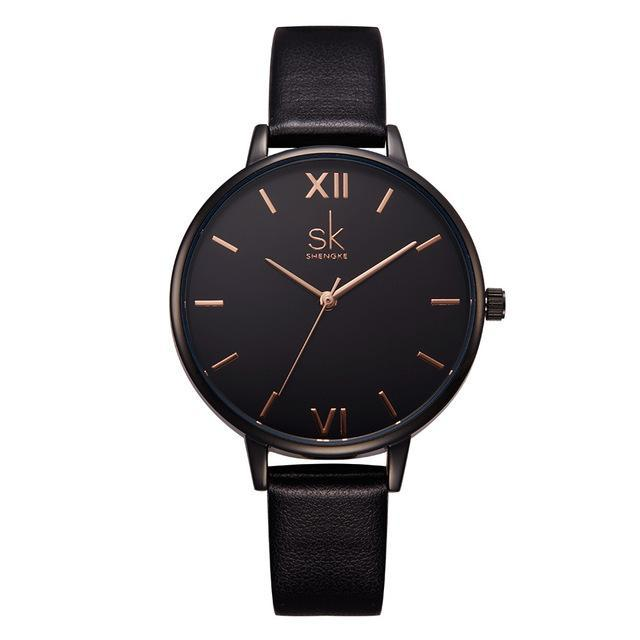 Women's Leather Band Quartz Watch