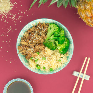 Teriyaki Chicken with Pineapple Fried Rice