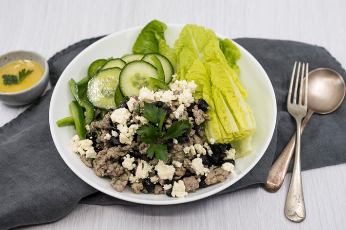 Turkey Mince and Black Bean Bowl