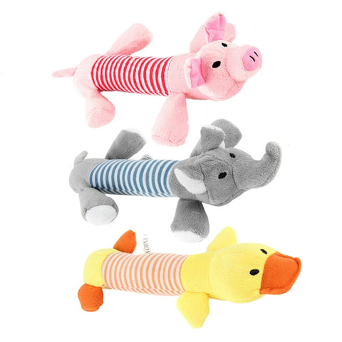 25 cm Dog Sound Toys Duck Pig Elephant
