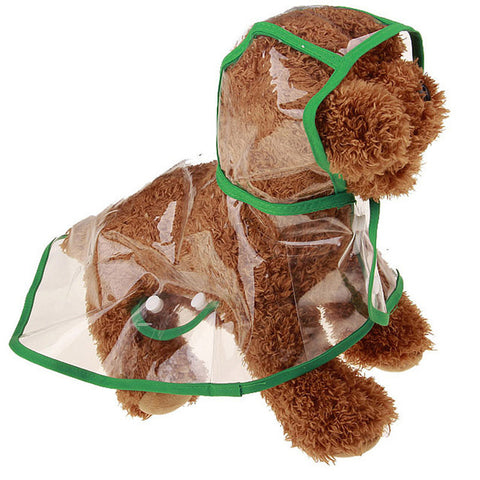 Pet Dogs Raincoat Transparent Waterproof For Small Medium Large Dogs  S-XL 3 Colors A55