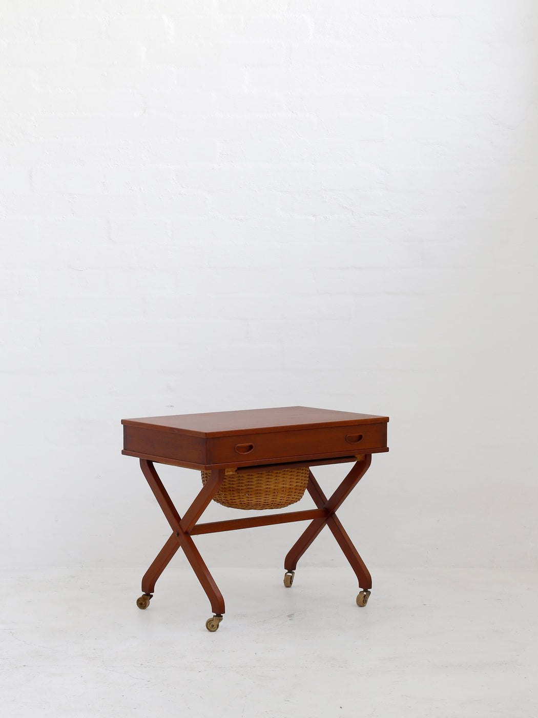 Danish Teak Sewing Tidy