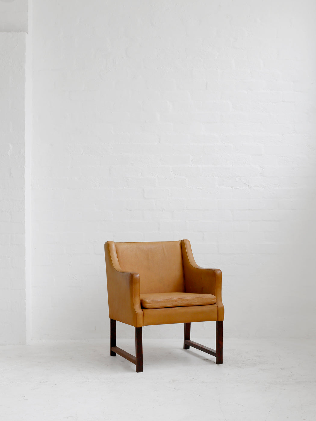 Leather Danish Side Chair