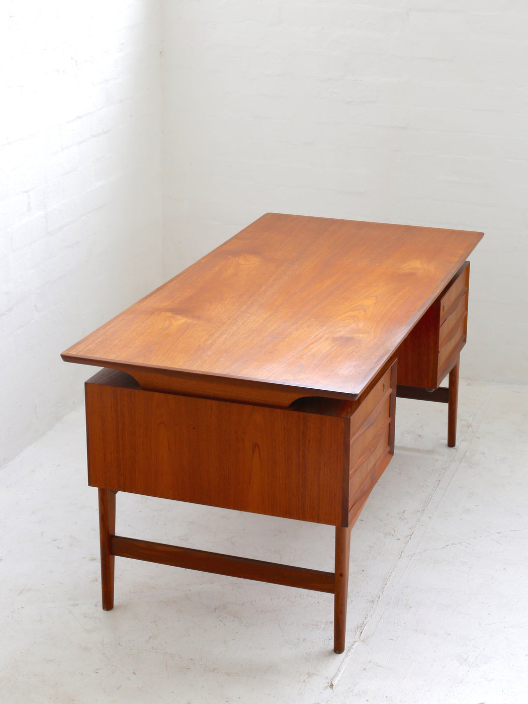 Danish Floating Top Teak Desk