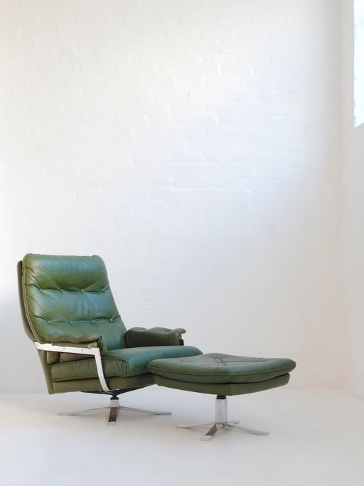Arne Norell Chair & Footstool