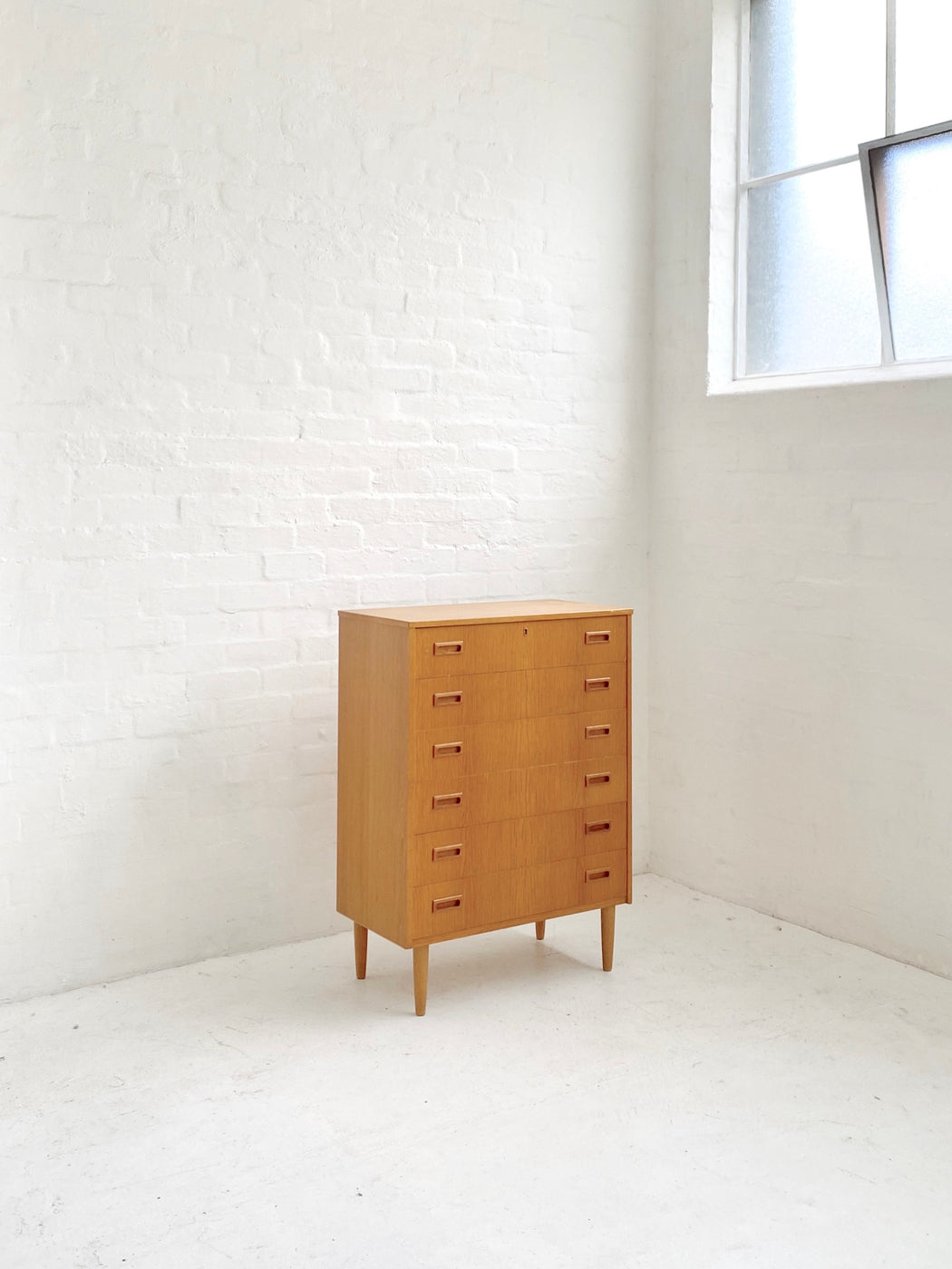 Danish Oak Chest of Drawers
