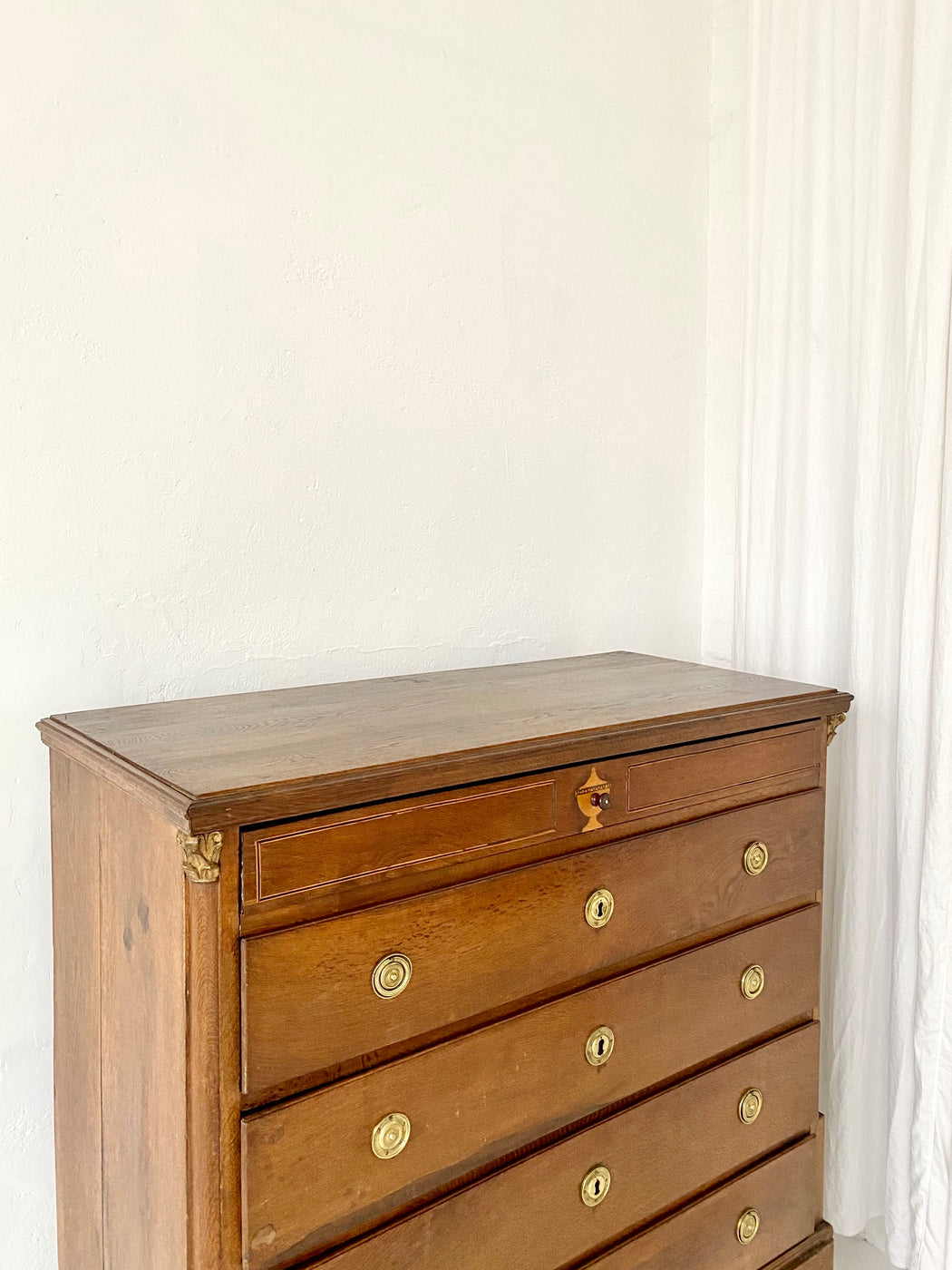 Antique European Oak Chest of Drawers