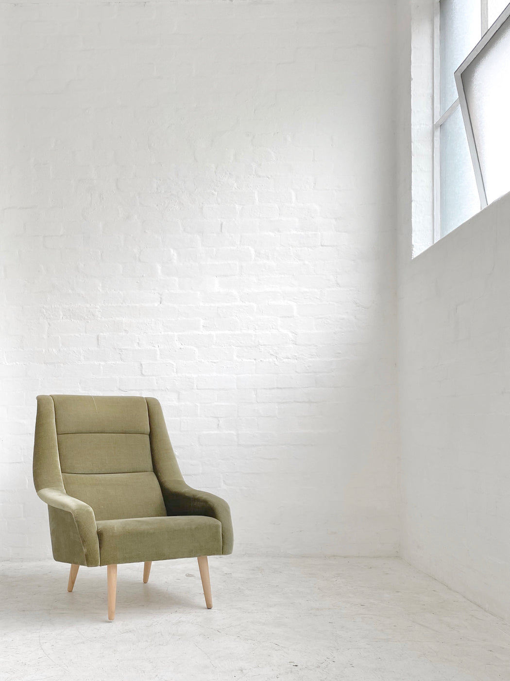 Danish Velvet Armchair
