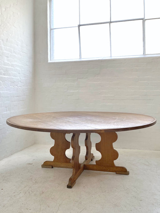 Rustic Danish Oak Dining Table