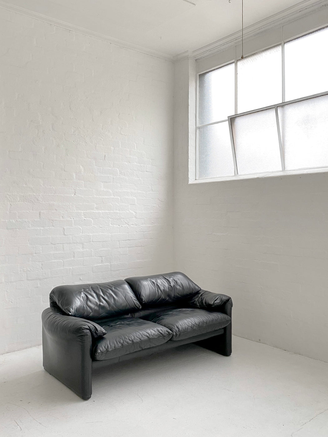 Vico Magistretti 'Maralunga' Leather Sofa