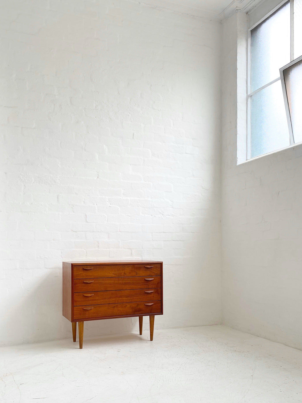 Low Danish Teak Chest of Drawers