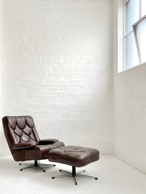 Tetrad 'Nucleus' Chair & Footstool