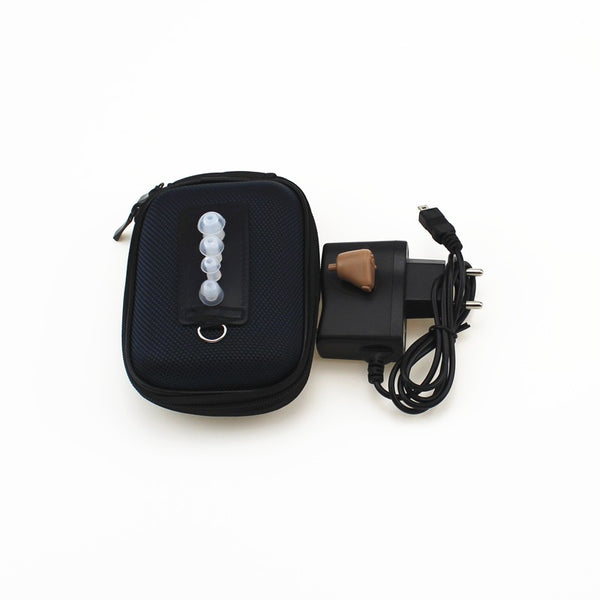 Rechargeable Hearing Aid Devices with adjustable tone Sound Enhancement ITE Invisible Voice amplifier EU plug 110V-240V
