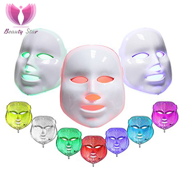 3/7 Colors Light Photon Electric LED Facial Mask Skin PDT Skin Rejuvenation Anti Acne Wrinkle Removal Therapy Mask Beauty Salon