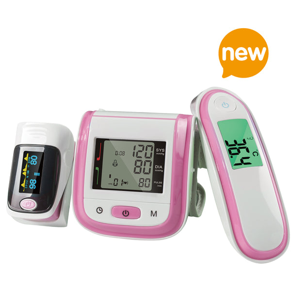 Yongrow Fingertip Pulse Oximeter & Wrist Blood Pressure Monitor and Infrared Body Thermometer With Health Care (Multi-Color)