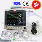 CE Patient Monitor 3/5 lead ECG,RESP,SpO2, NIBP,TEMP,PR,3 Multi-parameters,CONTENT