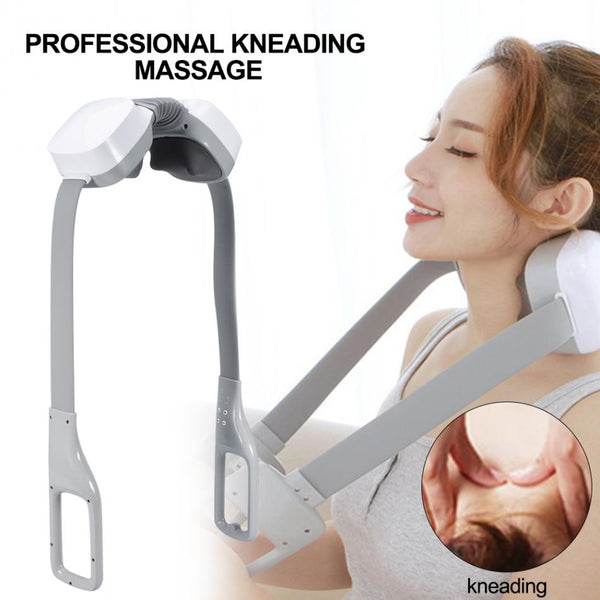 Electric Infrared Neck Massager Heat Shiatsu Shoulder Neck Back Body Kneading Hot Press Massager Muscle Pain Relief +Car Charger