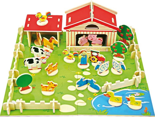 Wooden Play Farm Set-The Useful Shop