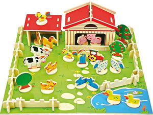 Wooden Play Farm Set