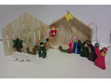 Wooden Mini Christmas Nativity Set in Stable Box-The Useful Shop
