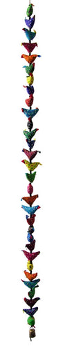 Extra Long Traditional Indian Fabric Welcome Birds String with Bell-The Useful Shop