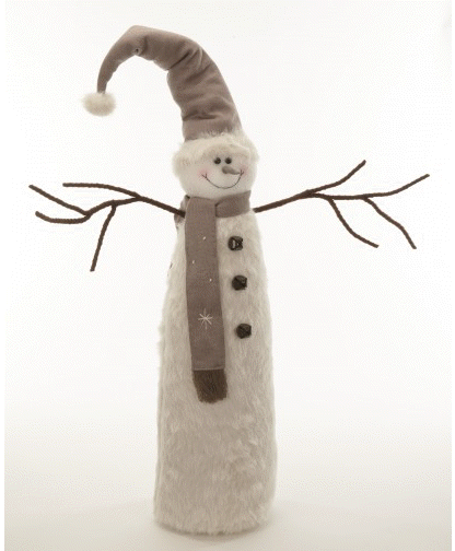 Extra Large Plush Snowman Display Decoration / Doorstop