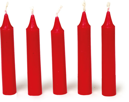 Bright Red Traditional Christmas Tree Chime Candles Baumkerzen 36 Pack