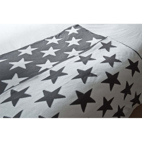Stars 100% Cotton Knit Throw