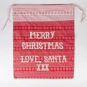 Fairisle Large Merry Christmas Present Sack by Sass & Belle-The Useful Shop