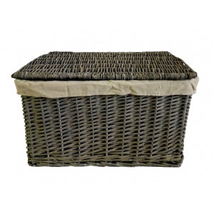 Set of 6 Lined Wicker Storage Baskets