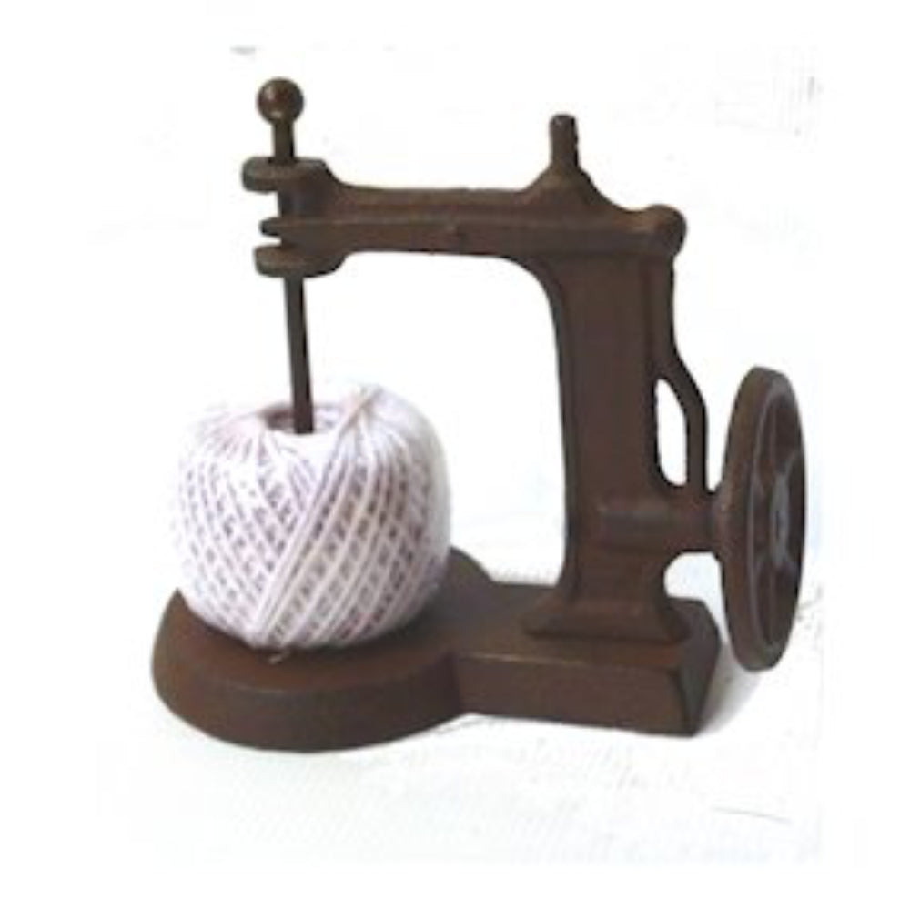 Cast Iron Sewing Machine Shaped String Holder & Dispenser