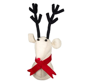 Felt Lawrence The Reindeer with Scarf Christmas Wall Decoration-The Useful Shop