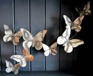 Butterfly Flight Metal Wall Art by Shoeless Joe
