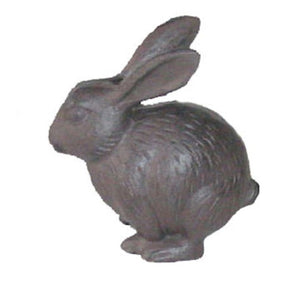 Cast Iron Bunny Rabbit Ornament for Home and Garden, Plants Post and Patio by Ascalon
