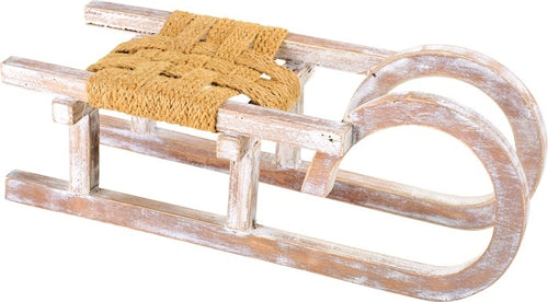 Decorative Wooden Christmas Sleigh Display