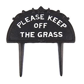Cast Iron Large Traditional Heritage Style Please Keep Off The Grass Sign for lawns and verges