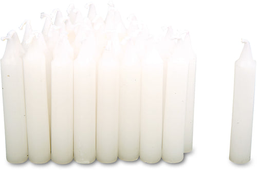 White Traditional Christmas Tree Chime Candles Baumkerzen 36 Pack