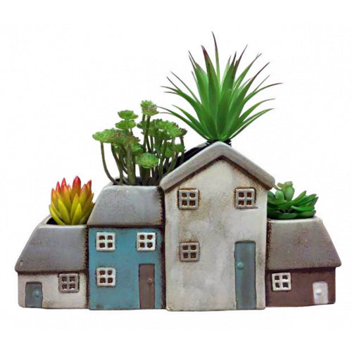 Terraced Cottages Large Ceramic Planter