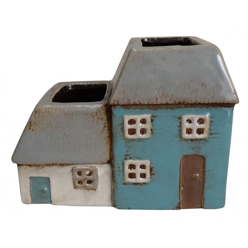 Terraced Cottages Medium Ceramic Planter